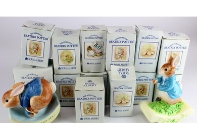 Beatrix Potter. A collection of over seventy Royal Albert Be...