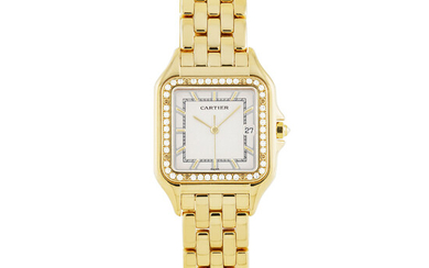 CARTIER, GOLD WITH DIAMOND-SET PANTHERE, DATE