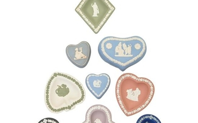 Collection of Wedgwood Dipped Jasperware Card Suite