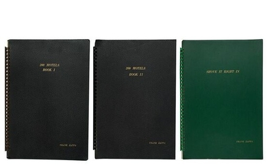 Frank Zappa's Collection of (3) Score Booklets for 200