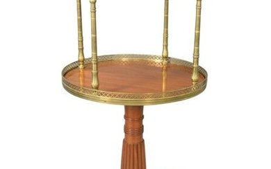 French Empire Two Tier Cocktail Stand, having revolving