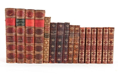 GROUPING OF 19TH C. BOOKS INCL. EMERSON, MILTON