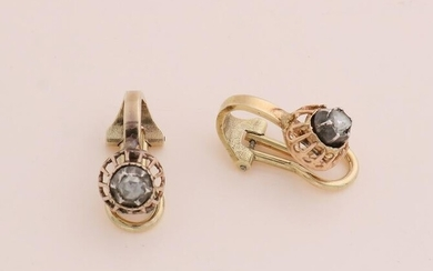 Gold earclips with diamond