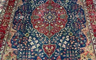 Hand Knotted Persian Tabriz Rug 10x6.4 ft