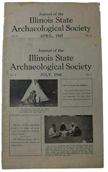 Journals: Two rare Illinois State Archaeological