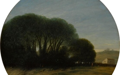 Landscape with a Farm and Trees Beside a River, Gottfried Wals