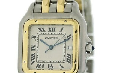Large Cartier Panthere 8395 18K Yellow Gold Stainless