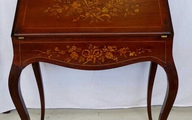 Louis XV style ladies desk with marquetry inlay, 72cm...