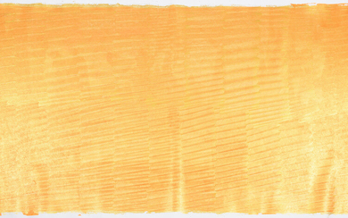 """MORITZ SOMMER. WIEN, ÖSTERREICH. """"Orange Royal"""". Large format painting. Acrylic on canvas."""