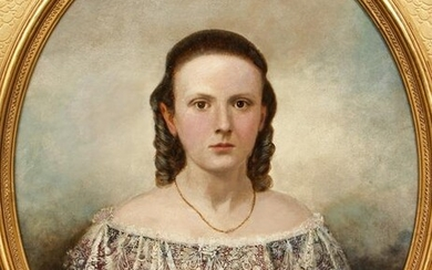 Mid 19th cent Portrait of a Lady in Exquisitie Period