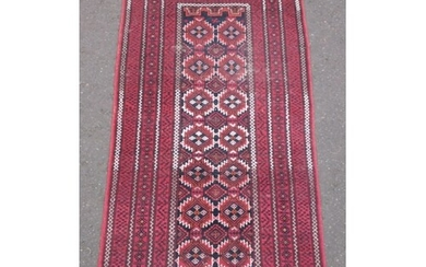 """PERSIAN MESHED BELUCH hand made carpet - Dimensions 85"""" x 42..."""