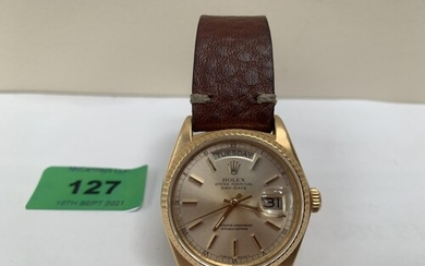 Rolex - A gentleman's Oyster Perpetual Day-Date wristwatch. ...