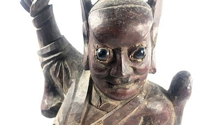 Sculpture - Wood - China - late Qing Dynasty