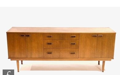 Unknown - A 1960s teak 'Long Tom' style sideboard, fitted wi...