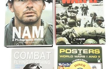 WWII - VIETNAM PICTORIAL REFERENCE BOOK LOT OF 4