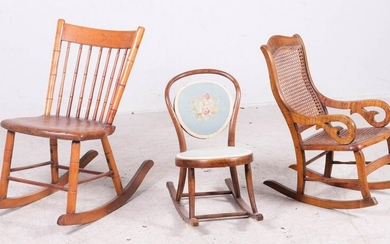 (3) 19th century Childs chairs