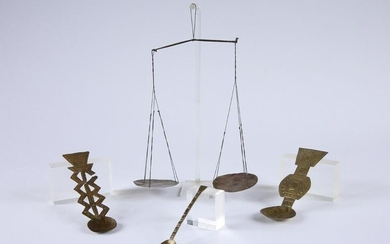 """4 Asante Spoons (""""saawa"""") and a Scale, """"nsania"""""""