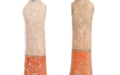 A PAIR OF CHINESE HAN DYNASTY TERRACOTTA SOLDIERS