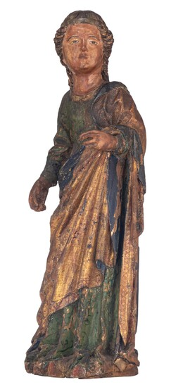 A female saint, Italy or Southern France, 15th/16thC, H 76,5 cm