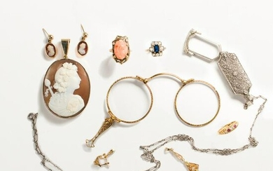 A group of Late 19th and Early 20th C. jewelry, incl.