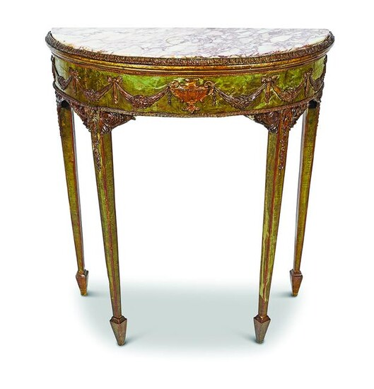 ADAM PAINTED AND PARCEL-GILT PIER TABLE