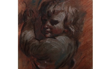 After the Old Master Study of a Putto pastel and gouache, 50...