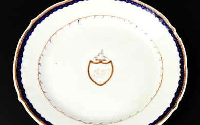 Antique 18th C Chinese Armorial Porcelain Plate