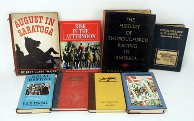 COLLECTION HORSE RACING & STEEPLECASE BOOKS