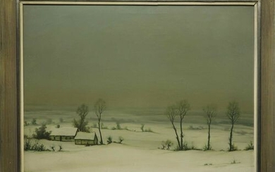COSYNS G. signed Winter landscape with hills' oil on canvas...