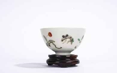 Chinese Famille Rose Flowers Bowl