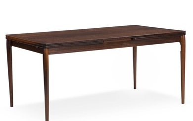 Danish furniture design: A rectangular rosewood dining table with Dutch extension. – Bruun Rasmussen Auctioneers...
