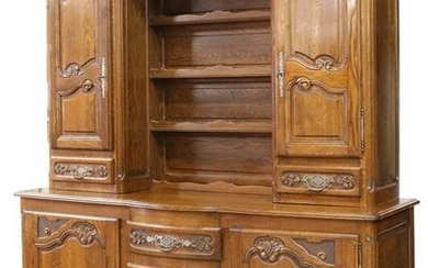 FRENCH PROVINCIAL LOUIS XV STYLE OAK VASSELIER