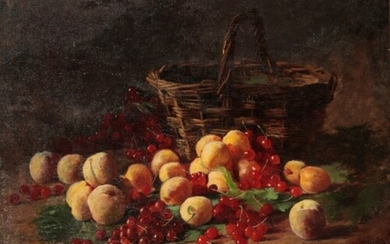 FRENCH SCHOOL, 19TH CENTURY A still life study of apricots, ...