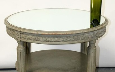 French Louis XVI style round side table