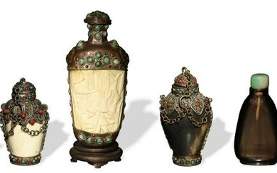 Group of 6 Chinese Snuff Bottles, Late 19th-Early 20th