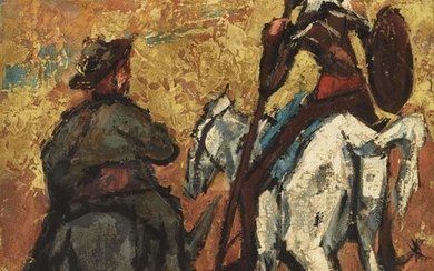 HENRY MAURICE D'ANTY (1910-1998) Pintor parisino DON QUIJOTE Y...