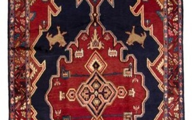 """Hand-knotted Ardabil Wool Rug 5'3"""" x 9'10"""""""