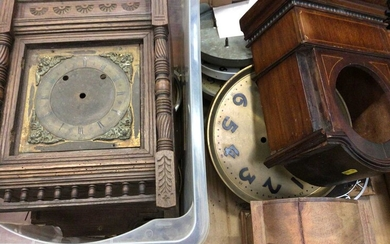 Large selection of wooden mantel clock cases