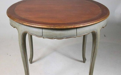 Louis XV Style Paint-Decorated Center Table