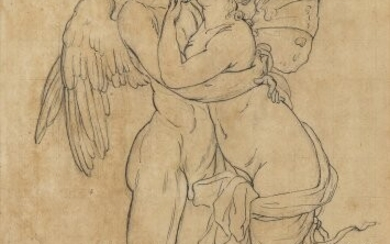 NEOCLASSICAL ARTIST, EARLY 19th CENTURY Cupid and Psyche Pen and...