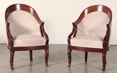 PAIR 19TH C. FRENCH RESTORATION STYLE ARM CHAIRS