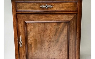 SIDE CABINET, early 19th century, French flame mahogany with...