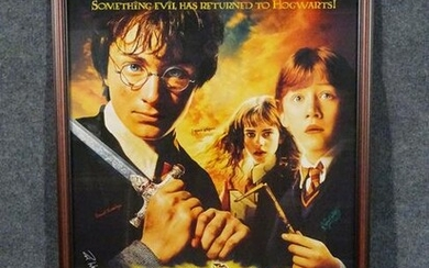 SIGNED HARRY POTTER & THE CHAMBER OF SECRETS POSTER