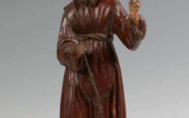 Spanish school of the XVI-XVII centuries. Alabaster hand carved and polychrome.