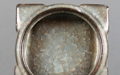 Square crackle glaze water coupe