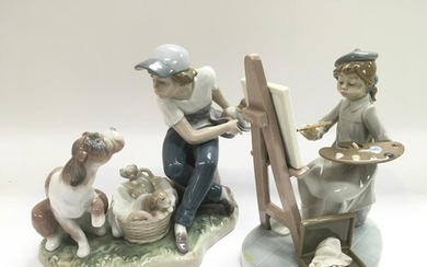 Two Lladro figures comprising numbers 5363 and 5376.