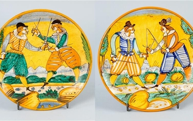 Two Montelupo ceramic dishes