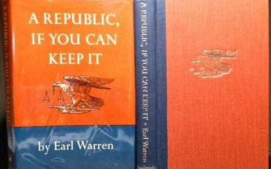 1972 Chief Justice Earl Warren Signed 1st