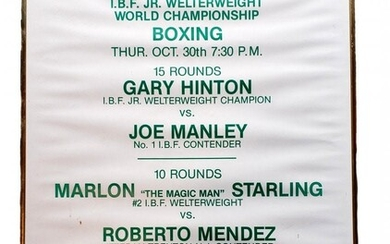 1986 Jr. Welterweight World Champ Boxing Poster