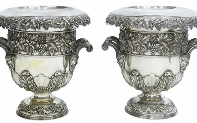 (2) SHEFFIELD SILVERPLATE CHAMPAGNE COOLERS